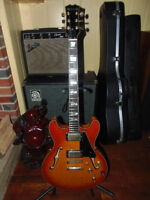 beautiful vintage Samick hollowbody Gibson es-335 copy. Nice!