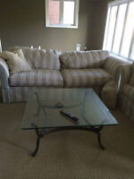 REDUCED TO SELL Beautiful Couch/Loveseat and tables