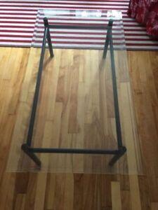 Table basse en verre/ glass low table