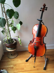 Rare left-handed cello