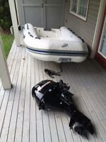 Mercury Ocean Runner 350 RIB inflatable with 9.9 outboard