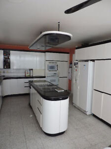 White Laminated Kitchen Cabinets and Countertop 1600$