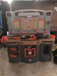 Home Depot Work Bench and Train/Activity Table