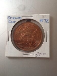 STIRLING Masonic Lodge #72 Coin