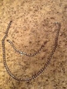 Stainless steel chain and bracelet $20 firm