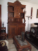 LARGE ANTIQUE FRENCH CARVED BAR/BUFFET/CABINET 1890's