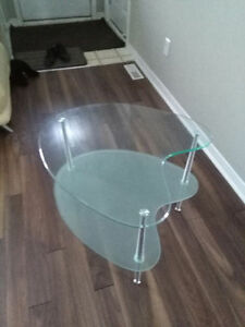 MODERN FROSTED GLASS/GLASS END TABLE...