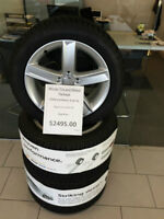 "Genuine Audi VW 17"" Alloy Rims and Tires MINT in NEW shape 5x112"