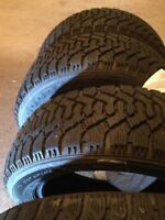 Winter tires, almost new, 195/55/15