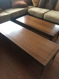 2 matching coffee tables in good shape.