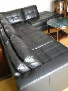 Moving! Leather Sofa Sectional by Germain Larivière
