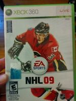 2 jeux xbox 360 games - nhl 08/09 - echange / trade or sell