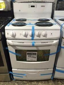 24'' White Stove with coils