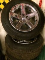 """20"""" dodge ram chrome wheels with michelin tires"""