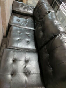 ASHLEY ALLISTON CHOCOLATE BROWN LEFT FACING SOFA REDUCED