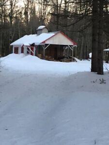 Terre à bois avec cabane à sucre