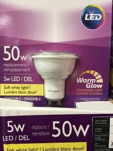 Philips GU10 Warm White LED Dimmable ($6)