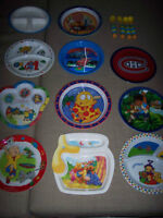 Grand lot de vaisselle et ustentiles variés pour bébé