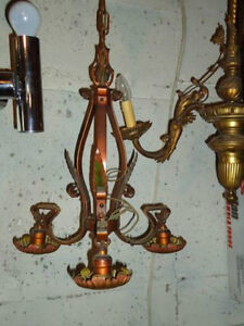 ANTIQUE FRENCH PROVINCIAL CEILING FIXTURE