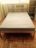 Ikea Double Bed with Mattress Great Condition - Free Delivery
