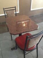 Granite Table and Chairs