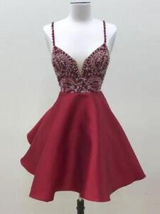 Prom Dress Beautiful Burgundy/Red A-line