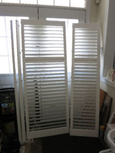 White Vinyl California Shutters