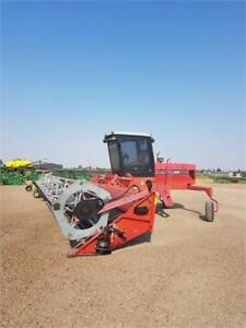 1997 MF220 Windrower swather with 30' header