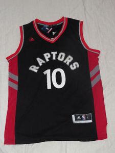 Demar Derozan Toronto Raptors Black and Red Replica Jersey Sz L