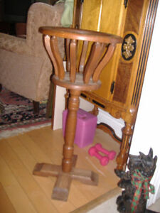 Antique solid oak bird cage style fern/plant stand