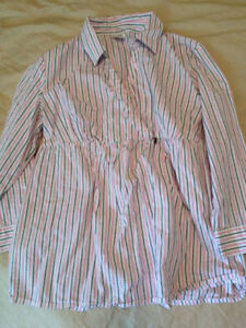 Stripped Motherhood Maternity Blouse/Shirt MEDIUM