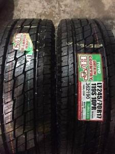 2 newLT 245/70/17 Toyo Open Country H/T all season tires installed and balanced