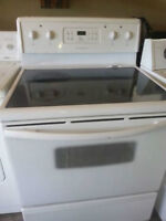 Frigidaire   white  glass stove  - FREE DELIVERY