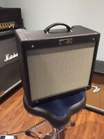 Fender Blues JR cabinet with speaker and reverb tank.