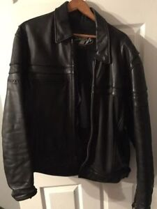 XL Leather Joe Rocket motorcycle jacket,  very thick and heavy.