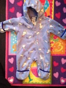 Columbia Fleece Blue Outdoor Onsie 6-12 months