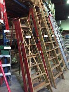 Ladders, wooden, aluminium, fiberglass, extension and step ladde