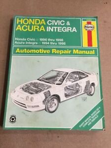 Various Honda and Toyota Haynes Repair Manuals