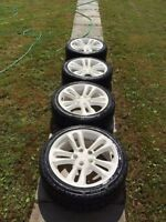17 inch honda si wheels type r white with new tires