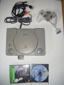 Playstation one with 2 games for sale