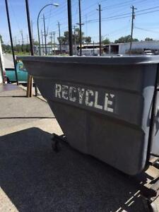 1 1/2 & 2 Yard Rubbermaid Dump Bins, Used!