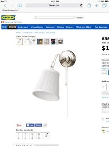 Ikea ARSTID wall lamp