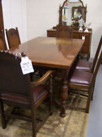 Antique 8 pc. Dining Set WAS: $1295 NOW: $949.99