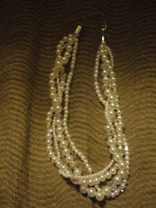 Cute Multi Strand Pearl Necklace (faux) (Reduced)