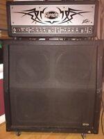 Peavey Supreme XL Amp Head and Slanted Speaker Cabinet