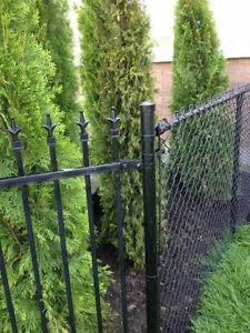 Chain Link and Wrought Iron Fencing