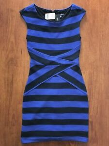 Le Chateau BRAND NEW $170 Bodycon Dress Cobalt Blue & Black