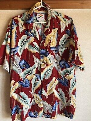 Aloha Shirt Hibiscus Japanese old Clothes Used medium