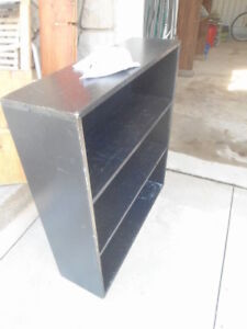 Black wooden shelf - $5