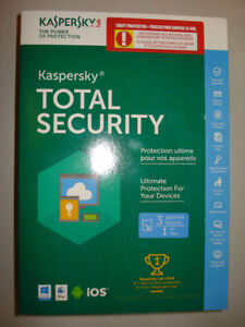 Kaspersky Total Security 3 Devices (BRAND NEW IN SEALED BOX)